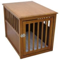 Dog Crate Table - Large/Mahogany