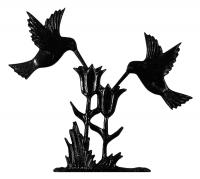 "30"" Hummingbirds Weathervane - Rooftop Black"