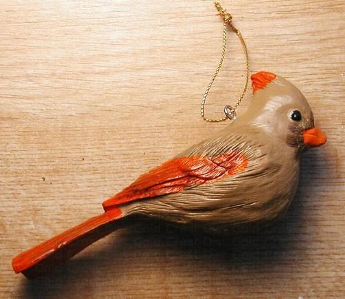 Songbird Essentials Lady Cardinal Ornament