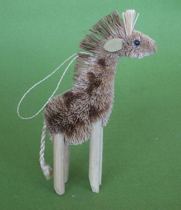 Brushart Giraffe Ornament