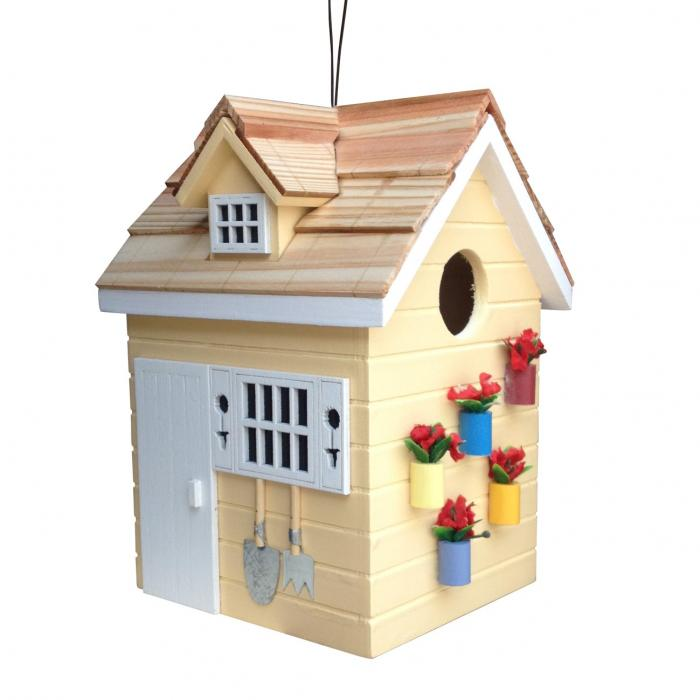 Home Bazaar Potting Shed Birdhouse - Yellow