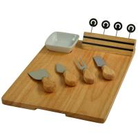 Picnic at Ascot Windsor hardwood Cheese Board with 4 Tools