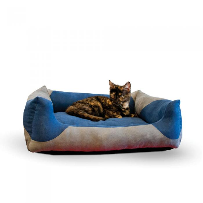 """K&H Pet Products Classy Lounger Small Gray/Blue, 17"""" x 21"""""""