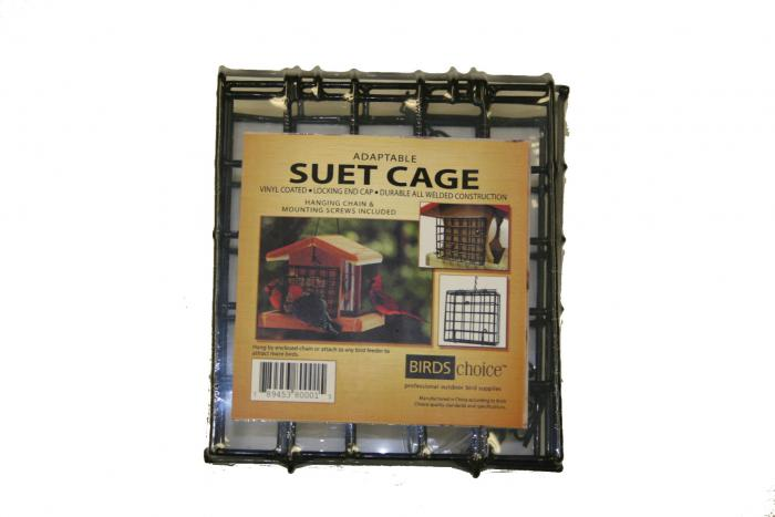 Birds Choice Standard Suet Feeder Cage with Mounting Screws and Chain