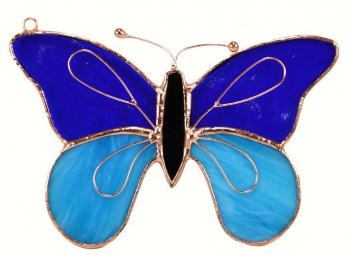 Gift Essentials Dark & Light Blue Butterfly Sun Catcher