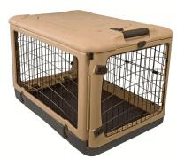 "Pet Gear Tan/Black 36"" The Other Door Steel Crate"