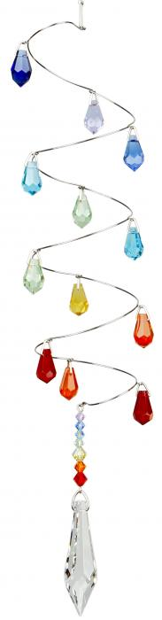 Woodstock Chimes Crystal Spiral Rainbow Icicles