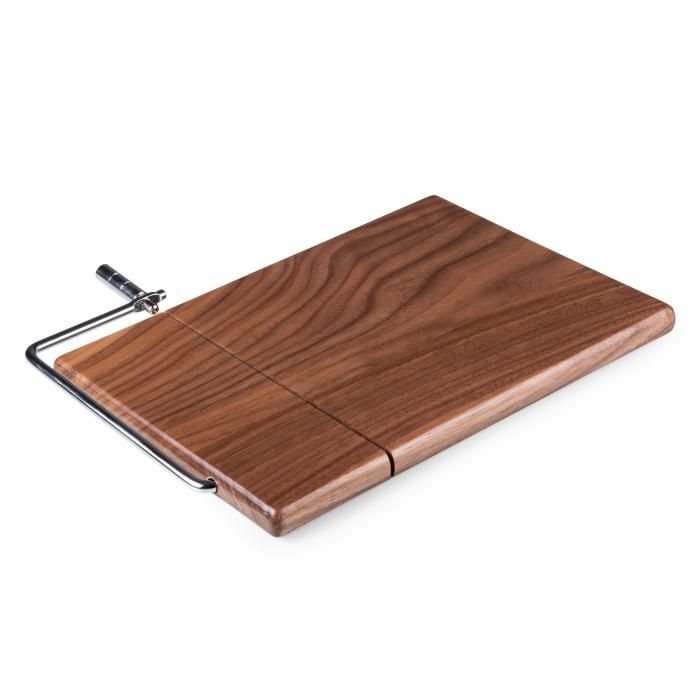 Picnic Time Meridian Black Walnut Cutting Board and Cheese Slicer (Black Walnut)