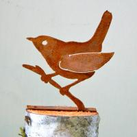 Elegant Garden Design Wren on Branch Bird Silhouette