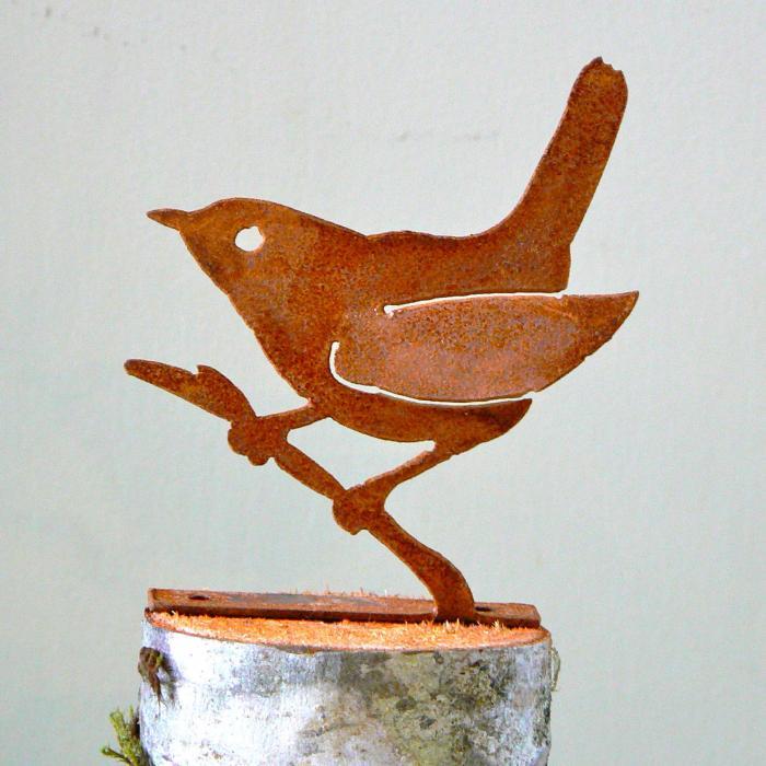 Elegant Garden Design Wren on Branch Bird Silhouette