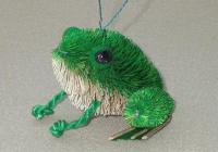Brushart Frog Sitting Ornament