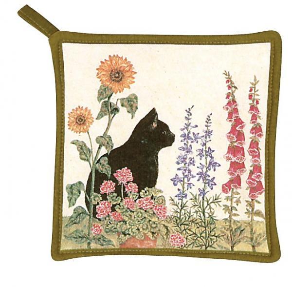 Alice's Cottage Black Cat Potholder