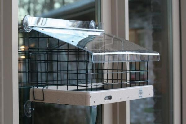 Birds Choice Cage for Window-Mount Platform Feeder and Acrylic Topper (SNWM200 & WMT200)