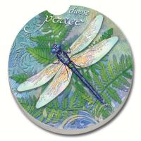 Counter Art Dragonfly Inspiration Car Coaster