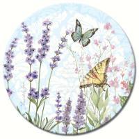"""Counter Art Herb Garden Glass Lazy Susan 13"""""""