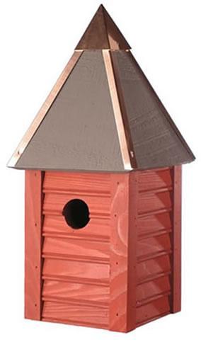 Heartwood Gatehouse Birdhouse, Redwood