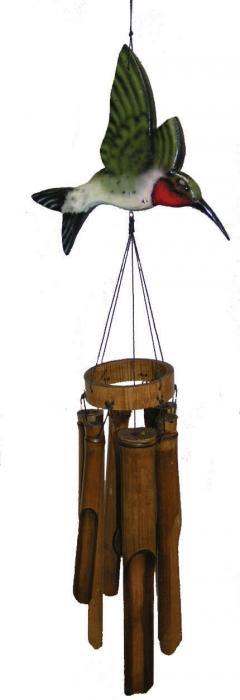 Cohasset Imports Flat Hummingbird Wind Chime