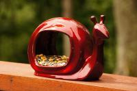 Good Directions Enchanted Snail Bird Feeder, Ruby