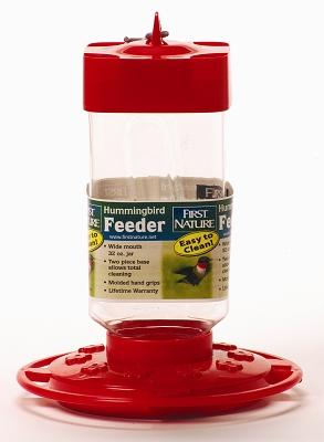 First Nature 32 Ounce Hummingbird Bird Feeder
