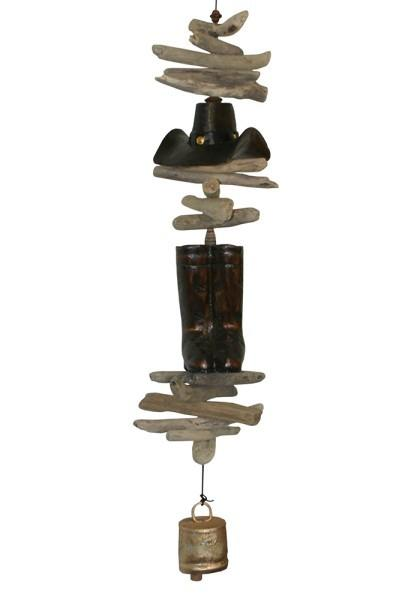 Cohasset Imports Cowboy Hat and Boots Bell