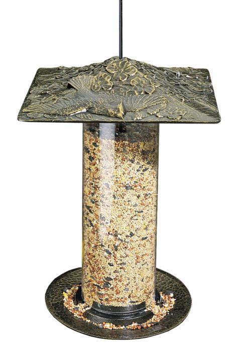 "Whitehall 12"" Cardinal Tube Feeder - French Bronze"