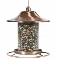 Perky Pet Small Panorama Tube Bird Feeder, Copper