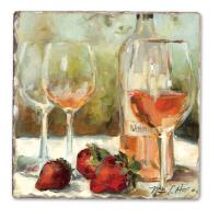Counter Art Wine Awards Single Tumbled Tile Coaster