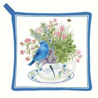 Alice's Cottage Blue Bunting Potholder