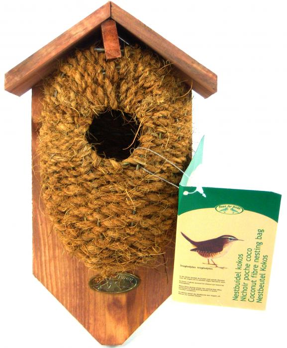 Best For Birds Nest Pocket Coconut Fiber With Roof