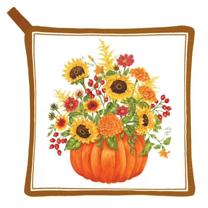 Alice's Cottage Pumpkin Bouquet Potholder