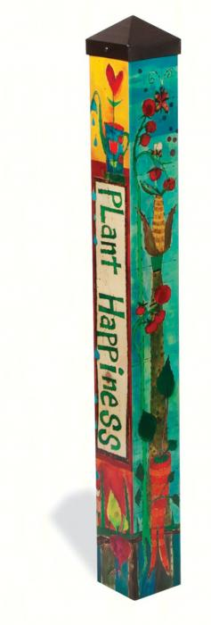 Magnet Works Plant Happiness 3 ft Art Pole 4x4