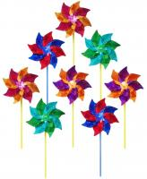 In The Breeze 8 inch Mylar Pinwheel (8 pc assortment)