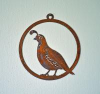 Elegant Garden Design Quail Window Ornament