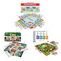 Winning Moves Classic Game Pack - Monopoly The Game of Life and Clue