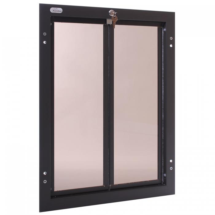 PlexiDor X-Large Exterior Door Application Performance Pet Door, Bronze
