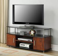 Desgins2Go Monterey TV Stand, Cherry/Black