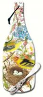 Counter Art Botanical Birds Cheese Server