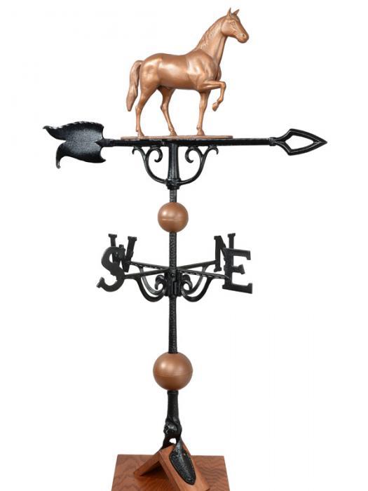 "46"" Horse Weathervane - Copper"
