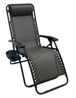 Wilcor Texline Deluxe Patio Recliner - Black