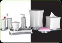 Nu Steel Sage Harbor 8 Piece Bathroom Accessories Set, White Ceramic/Chrome Trim