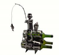 Three Star Fisherman on 3 Barrels Wine Bottle Holder