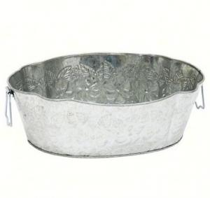 Achla Galvanized Embossed Tub