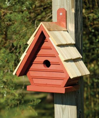 Heartwood Chick Birdhouse, Redwood