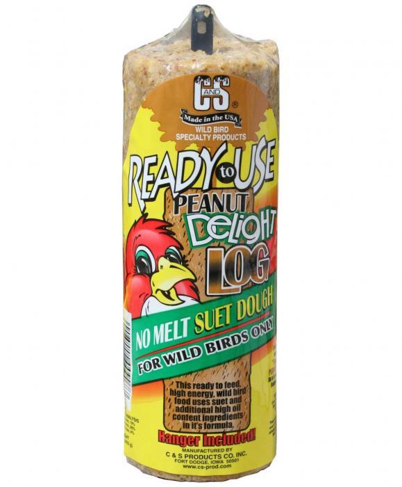 C & S Products Peanut Delight Log 16 oz +Frt