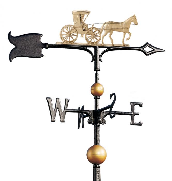 "30"" Full-Bodied Country Doctor Weathervane - Gold-Bronze"
