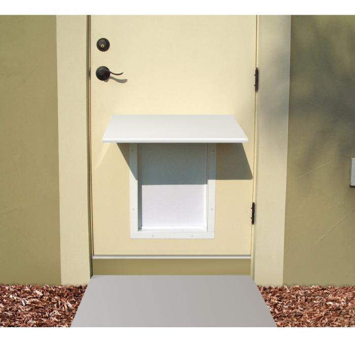 PlexiDor Small Pet Door Awning, White