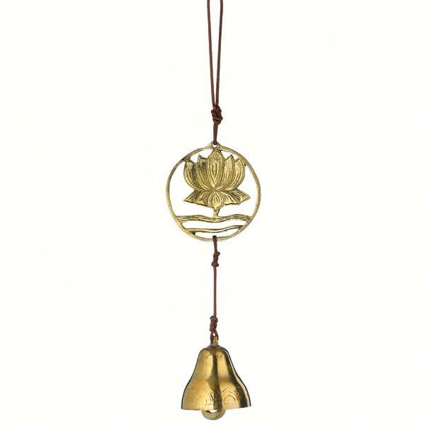 DZI Handmade Designs Rising Lotus Tibet Door Chime