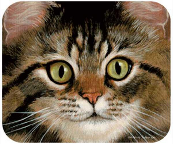 Fiddler's Elbow Tabby Cat Mouse Pad