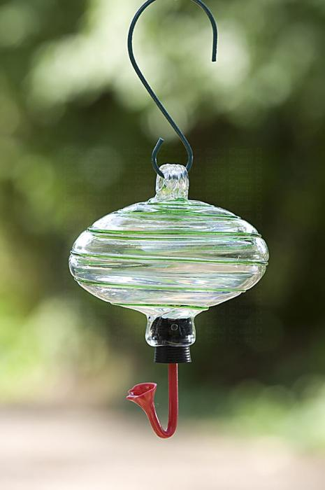 Rainbow-Gardman Green Swirl Oval Hummingbird Bird Feeder
