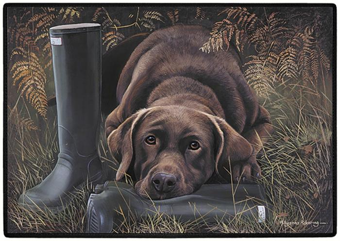 Fiddler's Elbow Chocolate Lab Doormat